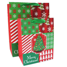Christmas tree new year gift bag X-mas snowflake craft present bags