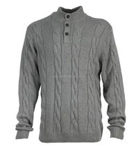 MEN'S KNITTED PULLOVER SWEATER IN VINTAGE CABLE JACQUARD