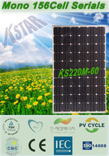High efficiency 220w 240w 250w mono solar panel for solar system from china suppliers
