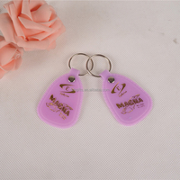 Wholesale pvc key chain/purple epoxy key ring/unusual keyrings