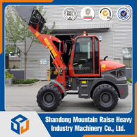 1.5Ton 4 in 1 Bucket Wheel Loader With Skid Steer Couple