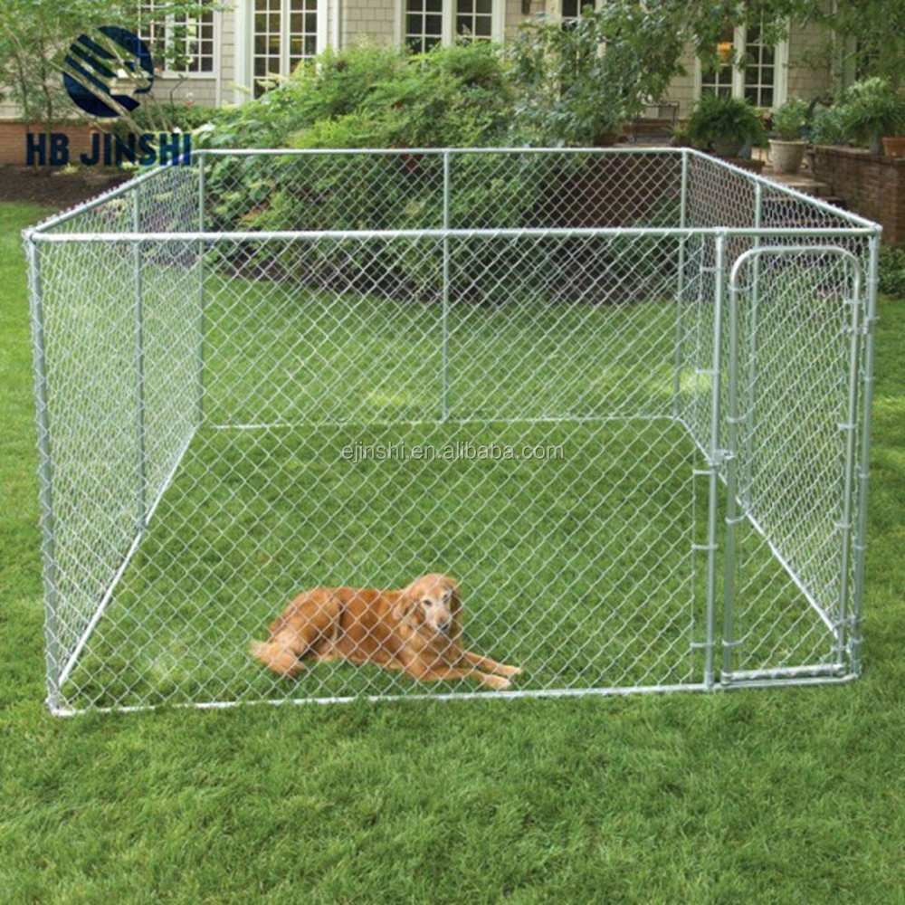 4' x 4' x 6' high quality easy assembled galvanized outdoor chain link dog kennel/large dog fence/pet house