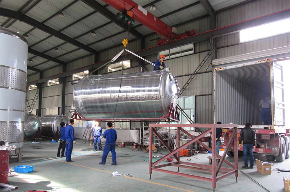 Stainless Steel Single Layer Bright Beer Tanks with dimple cooling jacket