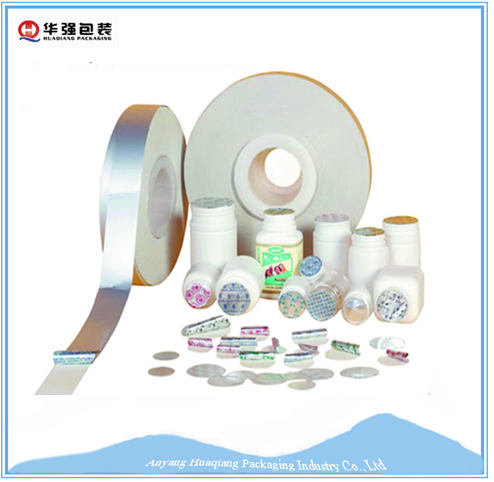 Laminated aluminum foil induction Seal cap liner for PET/PE/PT bottles