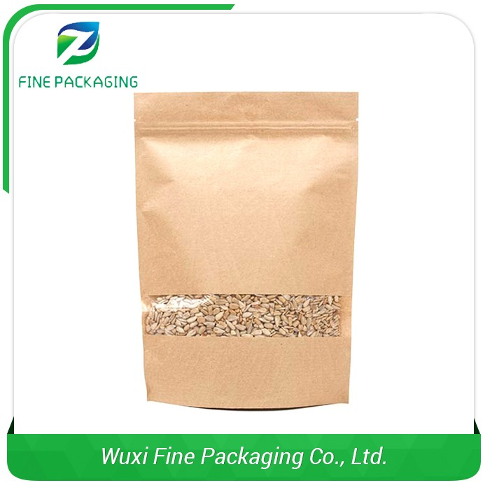 Authentic Supplier Snack Packaging Printed Kraft Paper Bag For Food