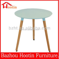 High quality round plastic top dining table for dining room outside