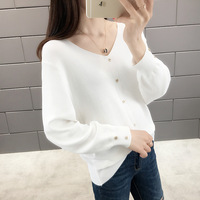 2020 Spring new arrival sexy women batwing sleeve v neck thin pullover sweater