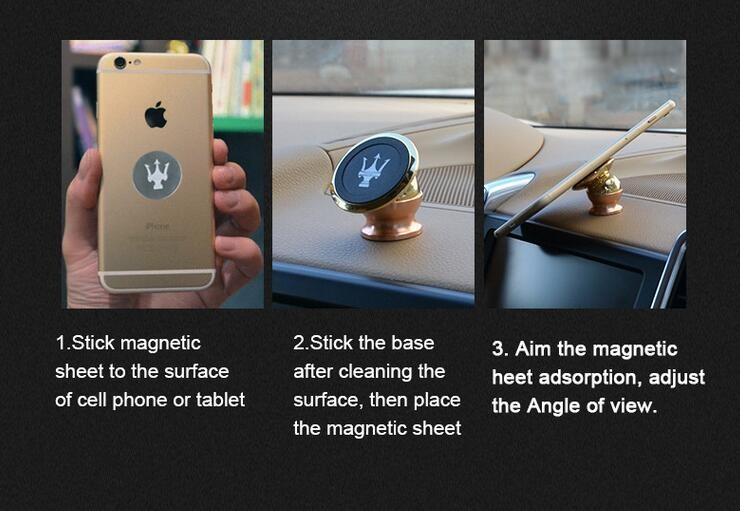 universal high quality rotating magnetic mobile phone mount car cell phone holder smart phone stand bracket for iphone
