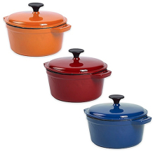 enameled cast iron cookware casserole/dutch oven/pots