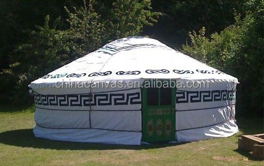 unique Mongolian yurt tent ger used in resort and holiday village