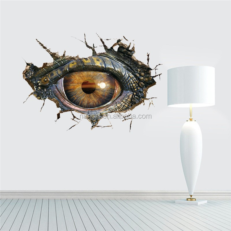 Dinosaur eyes 3d wall stickers personalized creative living room decoration three - dimensional wall stickers waterproof