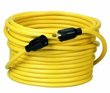 NEMA L5-20 50-Foot Yellow12/3 SJTW Twist To Lock Extension Cord