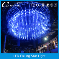 light and audio controlled synchronously and 3D lighting effect LED Falling Star Light