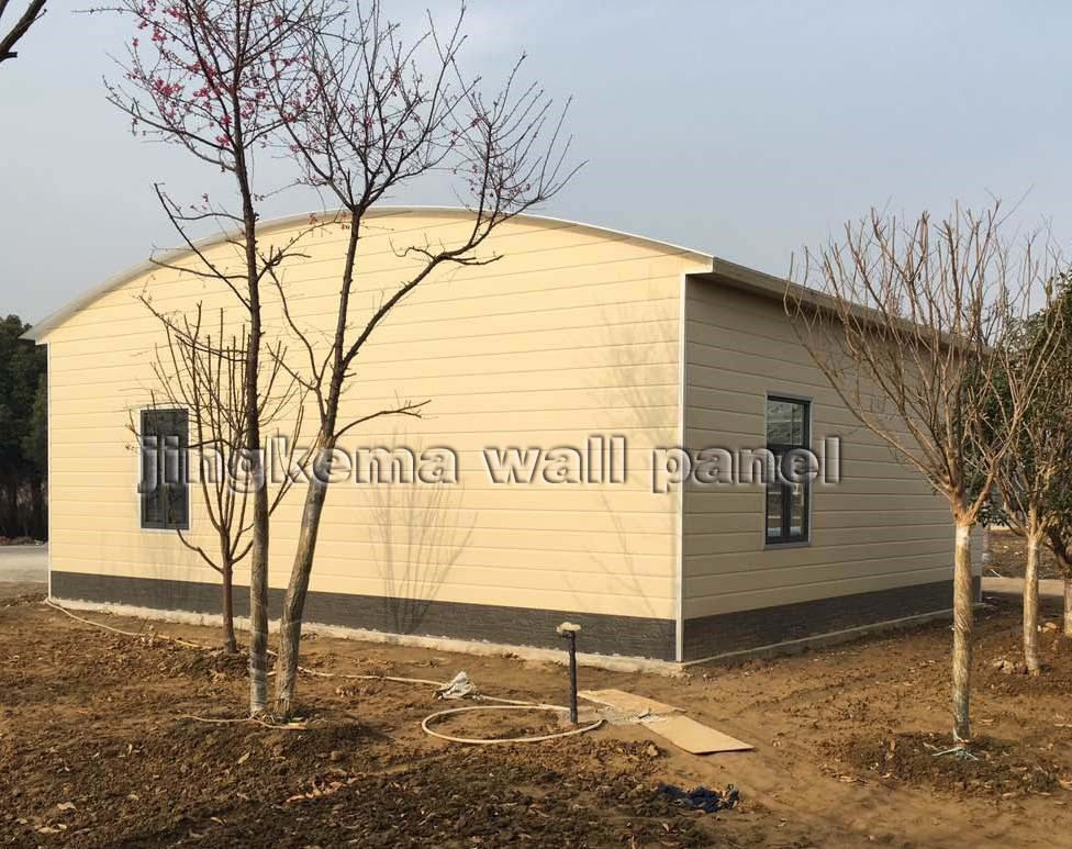 PU SANDWICH PANEL 3d wall panels for steel structure prefabricated houses, buildings, villas