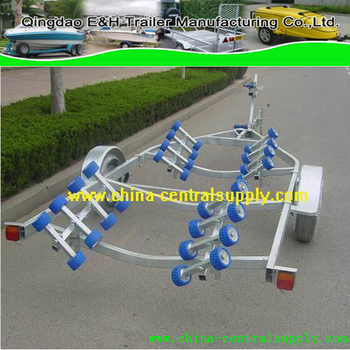 Galvanized manufacturing heavy duty Hydraulic Brake 6.3m ychat/boat trailer CT0102