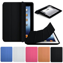 New Arrival New Slim Luxury Fashion Stand Smart Case Leather Back Cover For Apple iPad 2 3 4 Free Shipping&Whloesale