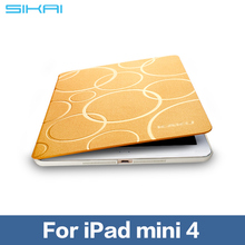SIKAI Dustproof Ultra Thin Tablet Case Cover For iPad Mini 4 Fully Protective Smart Case Flip Cover For Apple 7.9 inch Tablets