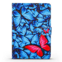 Folding stand leather tablet case for ipad mini 1 2 3 4 for samsung T110 T230 with beautiful printing design