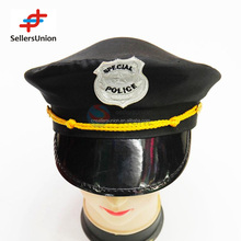 no.1 yiwu exporting commisssion agent wanted Black Police Cap hard party hat for cosplay 2016 funny party hats