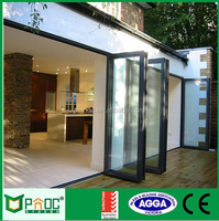 Australia standard bi fold door with double glazed,lowes glass interior folding doors style made in China PNOCFDD093