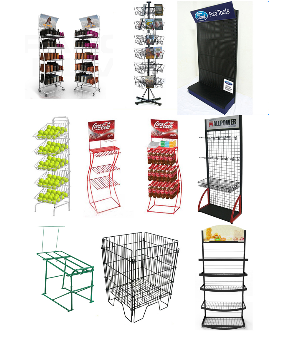 Large metal storage warehouse iron rack with caster