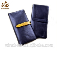 New arrival hot selling genuine leather wallet money clip with card case