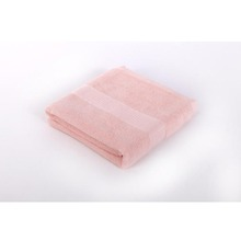 fancy pink high quality satin dobby bath towels