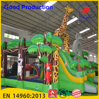Guangzhou Airpark Dragon Inflatable Bouncy Castle, Giant Inflatable Castle Playground for Kids,Dinosaur Inflatable Castle Inflat