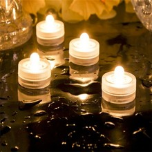 Sweet decoration colorful super bright waterproof led tea light floral
