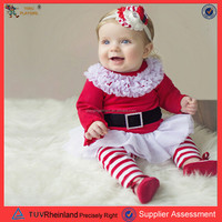 PGCC-1717 latest strip wholesale organic cotton 1 year old new born caters baby clothes import baby clothes baby santa dress