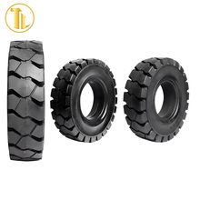high performance flat proof solid tyre forklift solid tires with rim
