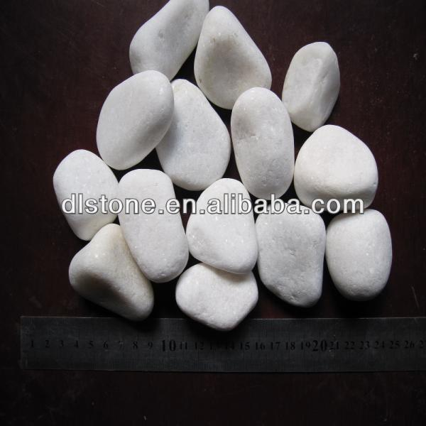 Snow White garden pebbles for sale cobble stone mat