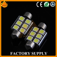 5050 6SMD Canbus Festoon LED 36mm 39mm 42mm Warm White for Auto Parts Car Accessories Light Lamps Bulbs
