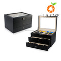 12 Grids Double-Layer PU Leather Organizer Sunglass Eyewear Storage Box