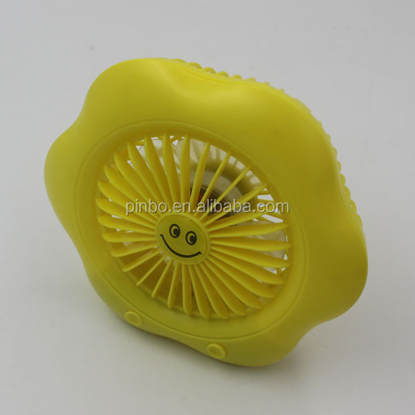 Mini USB Rechargeable Battery Fan with LED Light Portable Table Battery Charger Fan