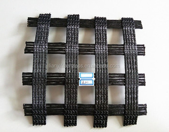 High tenacity warp knitted polyester geogrid PET geogrid