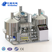Beer Brewhouse 3bbl 10bbl 15bbl Microbrewery Brewhouse System in Commercial Brewing Plant