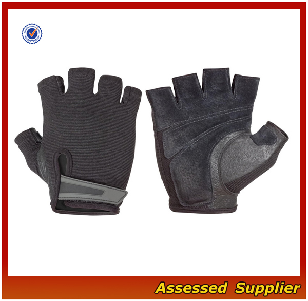 FXS043 Leather custom weight lifting gloves
