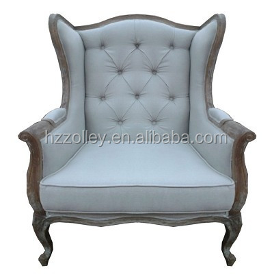 Antique wooden wing back chairs salon styling chairs