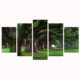 Wholesale Big Green Tree Photos Printed on Canvas/Full Screen Greenness Landscape Canvas Painting/Beauty of Nature Canvas Print