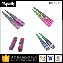 Wholesale Stock Transition Color Body Jewelry Acrylic Ear Taper and Plugs for Sale