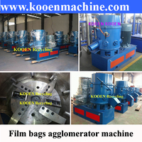Waste plastic agglomerator recycling machine for PE PP film bags