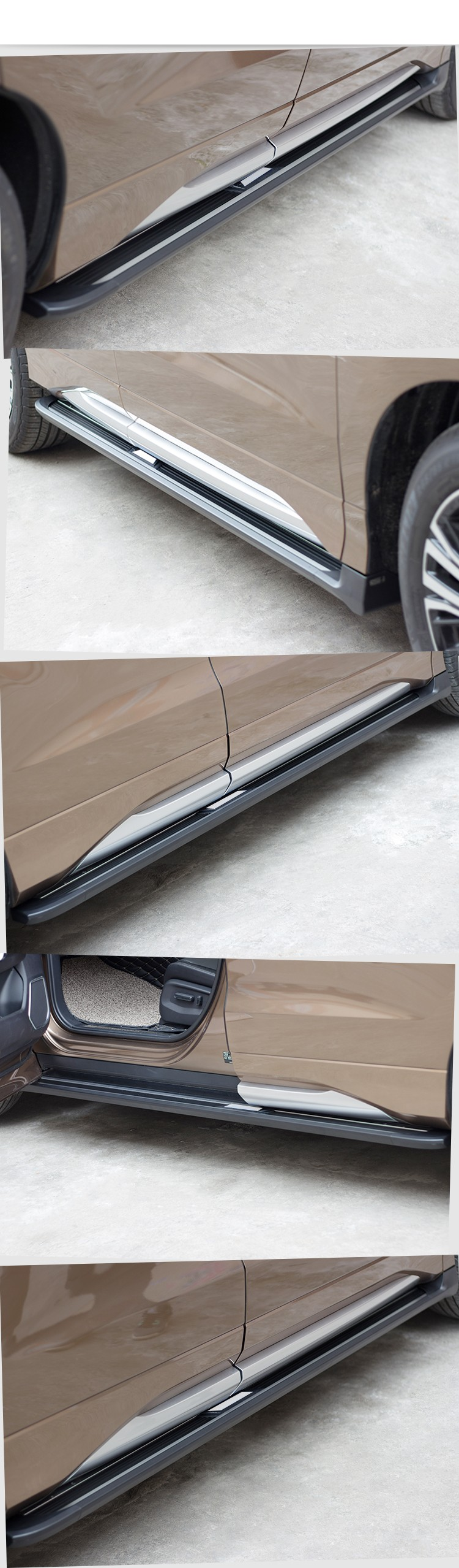 2017 hot sale running board with toyota HIGHLANDER side step