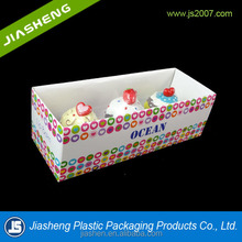 customized food grade paper cupcake box/ cheap clear cupcake box with insert plastic tray/ Mini cup cake box wholesale