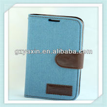 Fabric Mobile Phone Case,Phone Case For Samsung Galaxy S3 I9300,Wallet Jean Phone Case For Samsung Galaxy s3 i9300