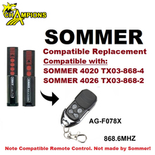 Manufacturer Universal Garage Door Rolling Code Remote Control 868MHz Compatible Replacement Sommer 4020 Sommer 4026