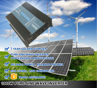 Business industrial DC AC Pure Sine Wave power Solar Inverter 1000W for air conditioner