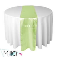 Satin Polyester Table Runner for Round/Square/Rectangle Tables Event Decor
