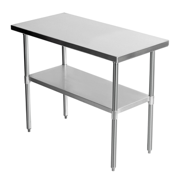 OWNFIT US Style Worktable With Undershelf Work Table Stainless Steel Work Bench Hotel Kitchen Restaurant