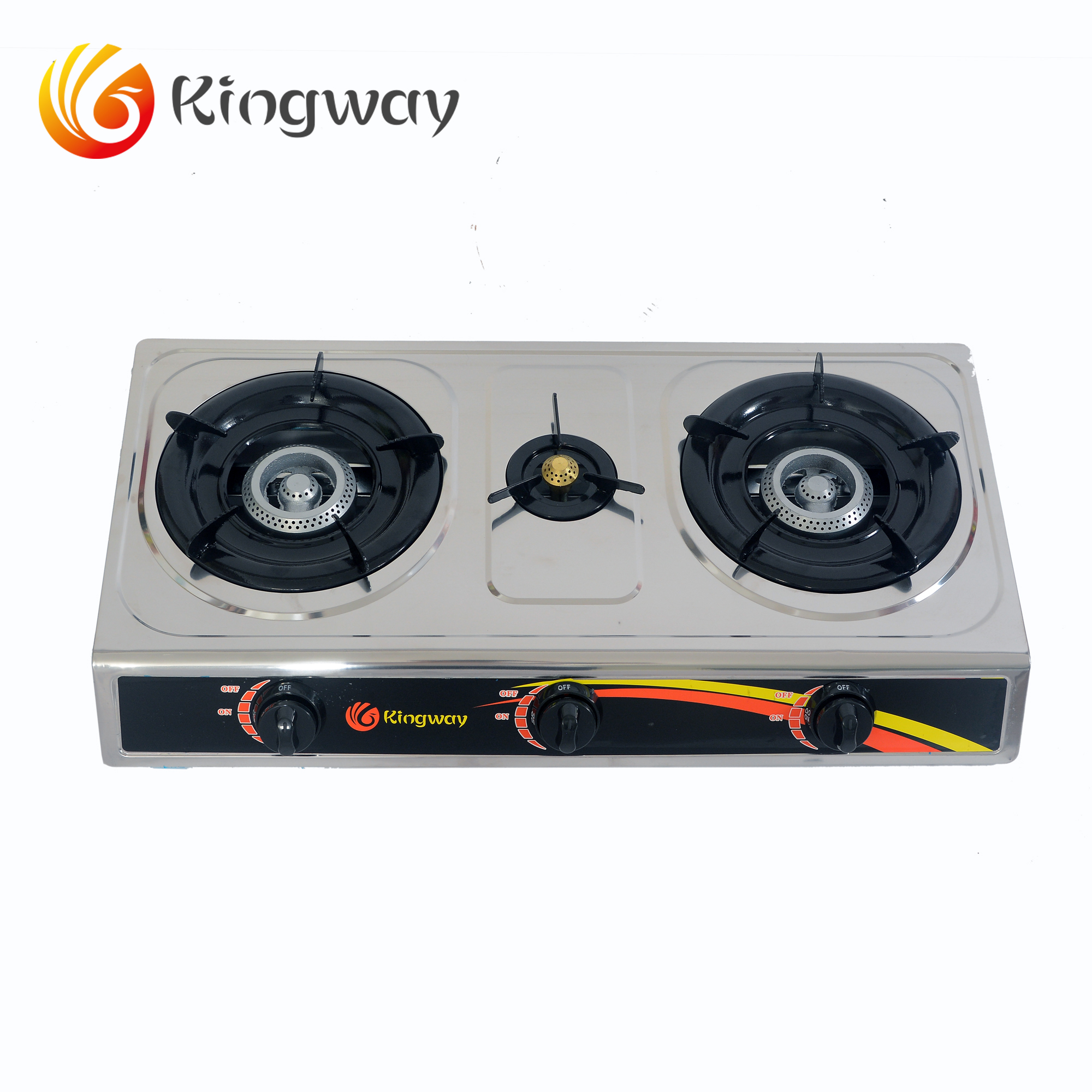 3 burner gas stove/stainless steel gas cooker